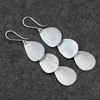 925 Sterling Silber Tropfen Ohrring, für Frau, 16x74mm, verkauft von Paar
