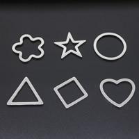 Titan -Anhänger, Titanstahl, verschiedene Stile für Wahl, originale Farbe, 25x25mm, Bohrung:ca. 15-18mm, verkauft von PC
