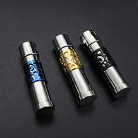 Titan -Anhänger, Titanstahl, Zylinder, plattiert, keine, 10x37mm, Bohrung:ca. 3-5mm, verkauft von PC