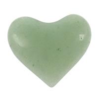 Grüner Aventurin Perle, Herz, kein Loch, 40x36x6.50mm, verkauft von PC