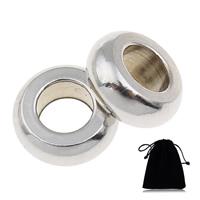Edelstahl European Perlen, 316 Edelstahl, Rondell, verschiedene Verpackungs Art für Wahl & ohne troll, originale Farbe, 10x4mm, Bohrung:ca. 5mm, verkauft von PC