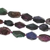 Natürliche Eis Quarz Achat Perlen, Eisquarz Achat, druzy Stil, 15x19x17-21x24x17mm, Bohrung:ca. 2mm, ca. 13PCs/Strang, verkauft per ca. 15.5 ZollInch Strang