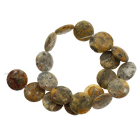 Natürliche verrückte Achat Perlen, Verrückter Achat, flache Runde, 20x6mm, Bohrung:ca. 1mm, ca. 20PCs/Strang, verkauft per ca. 14.5 ZollInch Strang