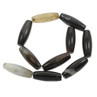Natürliche schwarze Achat Perlen, Schwarzer Achat, 13x38mm, Bohrung:ca. 1mm, ca. 10PCs/Strang, verkauft per ca. 14.5 ZollInch Strang