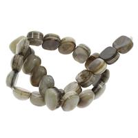 Natürliche Streifen Achat Perlen, 20x15x10mm, Bohrung:ca. 1mm, ca. 26PCs/Strang, verkauft per ca. 14.5 ZollInch Strang