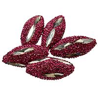 Kristall-Perlen, Lehm pflastern, mit Kristall, facettierte & mit Strass & gemischt, 16-18x31-34x16-18mm, Bohrung:ca. 1mm, 10PCs/Menge, verkauft von Menge