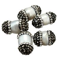 Natürliche Süßwasser, lose Perlen, Natürliche kultivierte Süßwasserperlen, mit Ton, gemischt, 9-11x14-19x9-11mm, Bohrung:ca. 1mm, 10PCs/Menge, verkauft von Menge