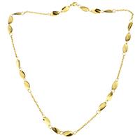 Edelstahl Schmuck Halskette, goldfarben plattiert, Oval-Kette & für Frau, 12x6mm, 2mm, verkauft per ca. 20 ZollInch Strang