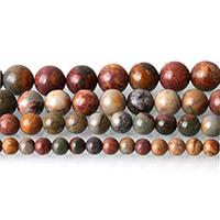 Natürliche Türkis Perle, rund, verschiedene Größen vorhanden, rot, Bohrung:ca. 0.5-1mm, Länge:ca. 15 ZollInch, verkauft von Menge