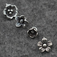 Bali Sterling Silber Anhänger, Thailand, Blumen-Knospe, verschiedene Stile für Wahl, Bohrung:ca. 2-2.5mm, verkauft von PC