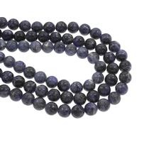 Sodalith Perlen, Sosalith, rund, verschiedene Größen vorhanden, Bohrung:ca. 1mm, verkauft per ca. 14.5 ZollInch Strang