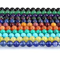 Edelstein Schmuckperlen, rund, verschiedenen Materialien für die Wahl, 4mm, Bohrung:ca. 0.5mm, ca. 95PCs/Strang, verkauft per ca. 15 ZollInch Strang