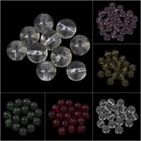 Runde Kristallperlen, Kristall, verschiedene Größen vorhanden, keine, Bohrung:ca. 1mm, 10PCs/Tasche, verkauft von Tasche