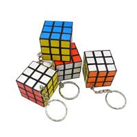 Speed-Puzzle Magic Rubik Würfel Spielzeug, Kunststoff, mit Eisen Ring, 30x30x30mm, verkauft von PC