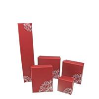 Papier Schmucksetkasten, mit Schwamm, verschiedene Stile für Wahl & mit Blumenmuster, rot, 100PCs/Menge, verkauft von Menge
