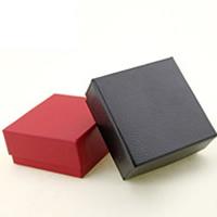PU Leder Schmucksetkasten, Fingerring & Ohrring, mit Schwamm, keine, 73x73x35mm, 100PCs/Menge, verkauft von Menge