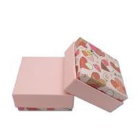 Papier Schmucksetkasten, Fingerring & Ohrring & Halskette, mit Schwamm, verschiedene Muster für Wahl, 73x73x35mm, 100PCs/Menge, verkauft von Menge