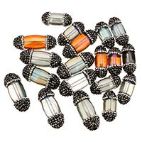 Kristall-Perlen, Kristall, mit Ton, verschiedene Größen vorhanden, gemischte Farben, 10PCs/Tasche, verkauft von Tasche