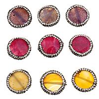 Natürliche Drachen Venen Achat Perlen, Drachenvenen Achat, mit Ton, keine, 22x22x7mm, Bohrung:ca. 1.8mm, 10PCs/Tasche, verkauft von Tasche