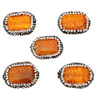 Natürliche Drachen Venen Achat Perlen, Drachenvenen Achat, mit Ton, Rechteck, 24-26x17-19x6-9mm, Bohrung:ca. 1.2mm, 10PCs/Tasche, verkauft von Tasche