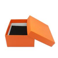 Papier Schmucksetkasten, Fingerring & Ohrring & Halskette, mit Schwamm, verschiedene Größen vorhanden, rote Orange, 50PCs/Menge, verkauft von Menge