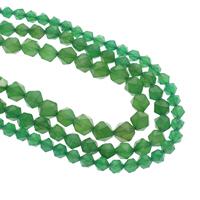 Natürliche grüne Achat Perlen, Grüner Achat, verschiedene Größen vorhanden, Bohrung:ca. 1mm, verkauft per ca. 15.5 ZollInch Strang