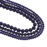 Lapislazuli Perlen, natürlicher Lapislazuli, rund, natürlich, verschiedene Größen vorhanden, Bohrung:ca. 1mm, verkauft per ca. 15.5 ZollInch Strang