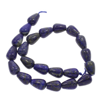 Lapislazuli Perlen, natürlicher Lapislazuli, Tropfen, Bohrung:ca. 1mm, ca. 20PCs/Strang, verkauft per ca. 15.5 ZollInch Strang