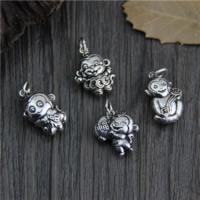 Bali Sterling Silber Anhänger, Thailand, Affe, verschiedene Stile für Wahl, Bohrung:ca. 2mm, 5PCs/Menge, verkauft von Menge
