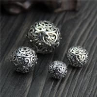 Bali Sterling Silber Perlen, Thailand, rund, verschiedene Größen vorhanden & hohl, verkauft von Menge