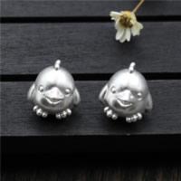925 Sterlingsilber European Perlen, 925 Sterling Silber, Huhn, 13.10x14.30mm, Bohrung:ca. 4mm, 5PCs/Menge, verkauft von Menge