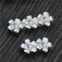 925 Sterling Silber Zwischenstege, Blume, verschiedene Größen vorhanden, 5PCs/Menge, verkauft von Menge