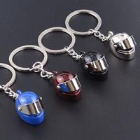 Schlüsselanhänger, Zinklegierung, mit Eisen Ring, Helm, plattiert, mit Bemaltung, keine, frei von Blei & Kadmium, 30mm, Innendurchmesser:ca. 30mm, verkauft von Strang