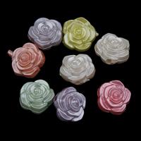 Plattierte Acrylperlen, Acryl, bunte versilbert & gemischt, 16x11mm, Bohrung:ca. 2mm, ca. 250PCs/Tasche, verkauft von Tasche