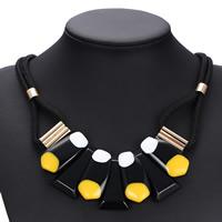 Zinklegierung Pullover Halskette, Gewachsten Baumwollkordel, mit Planke & Zinklegierung, goldfarben plattiert, für Frau, keine, frei von Nickel, Blei & Kadmium, 80mm, verkauft per ca. 34.5 ZollInch Strang
