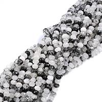 Perle, Rondell, natürlich, verschiedene Größen vorhanden & facettierte, Bohrung:ca. 0.5-1mm, verkauft per ca. 16 ZollInch Strang