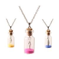 Zinklegierung Pullover Halskette, mit Sand, Flasche, Platinfarbe platiniert, Oval-Kette & für Frau, keine, frei von Blei & Kadmium, verkauft per ca. 23.5 ZollInch Strang
