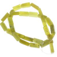 Zitronen Jade Perle, Rechteck, 14x4mm-15x5mm, Bohrung:ca. 1mm, ca. 28PCs/Strang, verkauft per ca. 15 ZollInch Strang