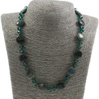 Unisex Halskette, Indischer Achat, mit Kristall, Messing Karabinerverschluss, facettierte, 15x5mm, verkauft per ca. 18.5 ZollInch Strang