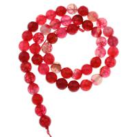Natürliche Drachen Venen Achat Perlen, Rosa Achat, rund, verschiedene Größen vorhanden & facettierte, Bohrung:ca. 1mm, verkauft per ca. 15 ZollInch Strang