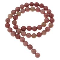 Rhodonit Perlen, rund, verschiedene Größen vorhanden, Bohrung:ca. 1mm, verkauft per ca. 15 ZollInch Strang