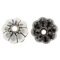 Zinklegierung Perlenkappe, Blume, antik silberfarben plattiert, frei von Blei & Kadmium, 17.50x17.50x8mm, Bohrung:ca. 3mm, 20PCs/Tasche, verkauft von Tasche