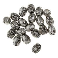 Zink Legierung Perlen Schmuck, Zinklegierung, Trommel, antik silberfarben plattiert, frei von Blei & Kadmium, 8x7x7mm, Bohrung:ca. 3mm, 50PCs/Tasche, verkauft von Tasche