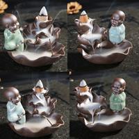 Porcelain Backflow Incense Burner, Porzellan, handgemacht, verschiedene Stile für Wahl, 110x80mm, verkauft von PC