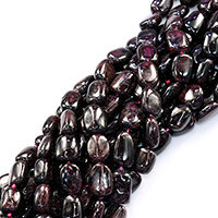 Natürlicher Granat Perlen, Rechteck, 11x14mm, Bohrung:ca. 0.5mm, ca. 29PCs/Strang, verkauft per ca. 16 ZollInch Strang
