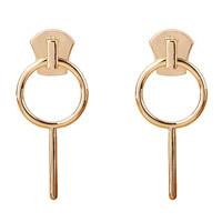 Zinklegierung Tropfen Ohrring, Edelstahl Stecker, goldfarben plattiert, frei von Blei & Kadmium, 30x65mm, verkauft von Paar