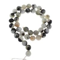 Labradorit Perlen, rund, verschiedene Größen vorhanden & zweifarbig, Bohrung:ca. 1mm, verkauft per ca. 15 ZollInch Strang
