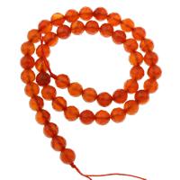 Natürlich rote Achat Perlen, Roter Achat, rund, verschiedene Größen vorhanden & facettierte, Bohrung:ca. 1mm, verkauft per ca. 15 ZollInch Strang