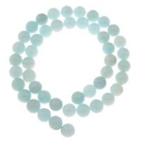 Amazonit Perlen, rund, verschiedene Größen vorhanden, Bohrung:ca. 1mm, verkauft per ca. 15 ZollInch Strang