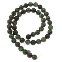 Rubin Zoisit Perle, rund, verschiedene Größen vorhanden, Bohrung:ca. 1mm, verkauft per ca. 15 ZollInch Strang